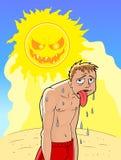 Summer heat illustration Stock Images