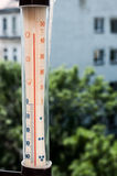 Summer heat thermometer Stock Photos