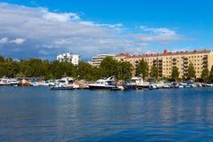 Summer Helsinki cityscape Stock Images