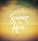Summer is here vector Royalty Free Stock Photography