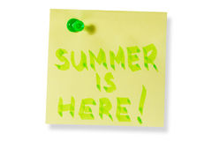 Summer is here Royalty Free Stock Image