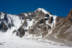 Mountain view of peak Teketor in Kyrgyzstan Stock Image