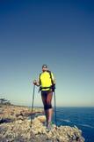 Summer hike along the coast. Stock Image