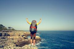 Summer hike along the coast. Stock Photography