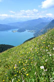 Summer hike Stock Image