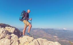 Summer hike royalty free stock image