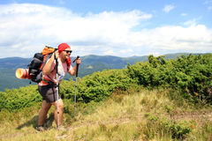 Summer hiking in the mountains. Stock Image