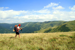 Summer hiking in the mountains. Royalty Free Stock Images