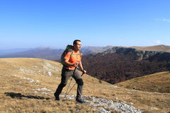 Summer hiking in the mountains. Royalty Free Stock Photo