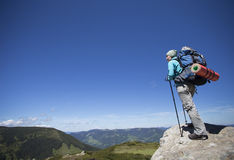 Summer hiking in the mountains. Royalty Free Stock Image