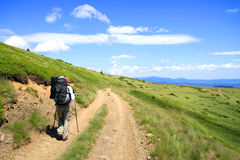 Summer hiking in the mountains. Royalty Free Stock Photos