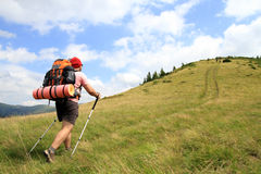 Summer hiking in the mountains. Royalty Free Stock Photography