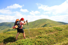 Summer hiking in the mountains. Stock Photos