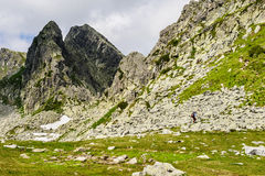 Summer hiking in the mountains Royalty Free Stock Photography