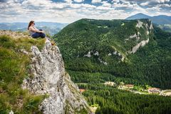 Summer hiking in the mountains Royalty Free Stock Image