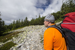 Summer hiking in the mountans. Stock Photo