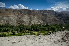 Summer in Himalaya. View from highway royalty free stock photos