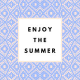 Summer hipster boho background Royalty Free Stock Image