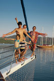 Summer Holiday. Happy family on a cruise boat during summer holiday Stock Photography