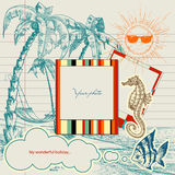 Summer holiday. Holiday projects for travel flyers or brochures Royalty Free Stock Image