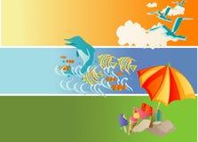 Summer Holiday. Vector illustration of beach and summer theme vector illustration