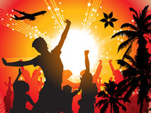 Summer holiday. Tropical background, vector illustration Stock Images