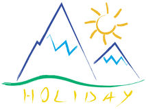Summer holiday. Hand drawing illustration with white background Royalty Free Stock Photography