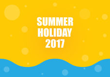 Summer holiday 2017. Abstract background Stock Photos