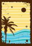 Summer holiday, abstract frame for your design Royalty Free Stock Photos