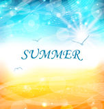 Summer Holiday Background, Glowing Wallpaper Royalty Free Stock Photo