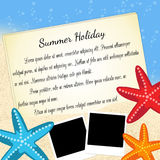 Summer holiday background Royalty Free Stock Photos