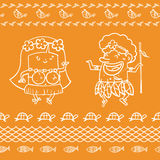 Summer holiday background Pattern Seamless Royalty Free Stock Photo