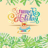 Summer holiday background Pattern Seamless Stock Image