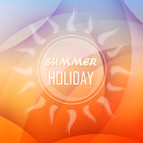 Summer holiday background with sun, flat design Royalty Free Stock Images