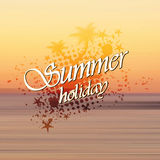 Summer holiday background, sunset on the beach Stock Photo