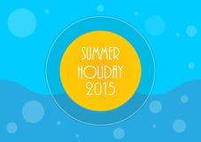 Summer holiday background. Vector illustration, eps10 royalty free illustration