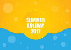 Summer holiday 2017 Royalty Free Stock Images