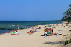 Summer holiday on the bank of the Baltic Sea in the city of Zelenogradsk Royalty Free Stock Images