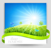 Summer holiday banner Royalty Free Stock Photo