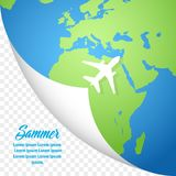 Summer holiday banner, stylish vector design on white background. Summer holiday banner, stylish vector design on a white background Stock Photography