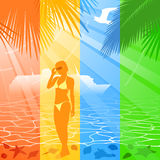 Summer holiday banners Stock Photo