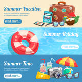 Summer Holiday Banners Set Stock Images