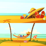 Summer Holiday Banners Set Royalty Free Stock Photos