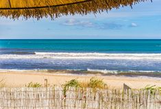 Summer holiday at beach background conept stock photography