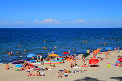 Summer holiday on a beach on the Baltic Sea Royalty Free Stock Photo