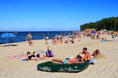 Summer holiday on a beach on the Baltic Sea Stock Photo