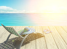 Summer holiday on the beach, halo effect Stock Image