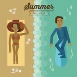 Summer holiday beach  Royalty Free Stock Image