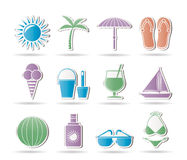 Summer, Holiday and beach objects Royalty Free Stock Photography
