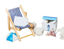 Summer, holiday, beach, sun lounger Royalty Free Stock Photo